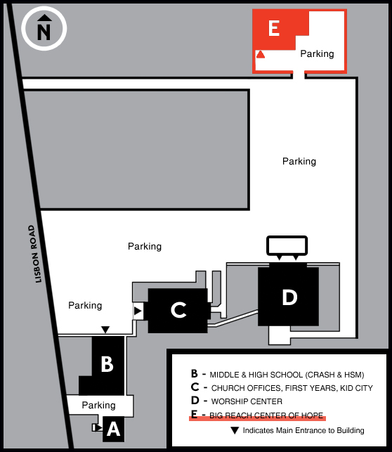 BRCOH On-Site Location Map